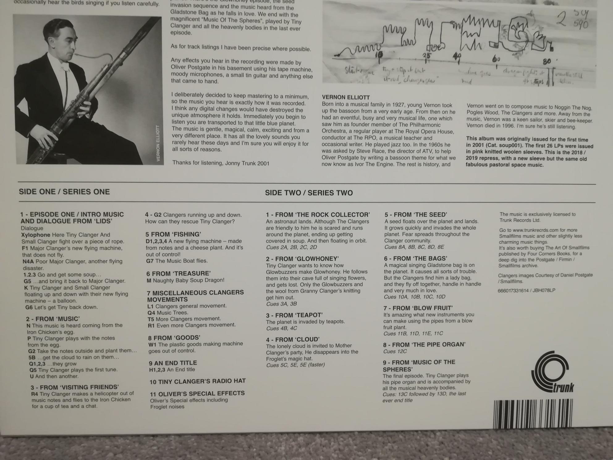 Clangers Soundtrack on Vinyl
