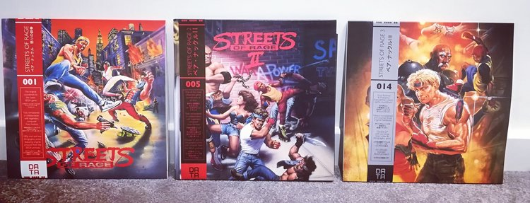 I have all three Streets of Rage soundtracks on vinyl and they are awesome!