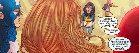 A beautiful moment from Ms. Marvel #1