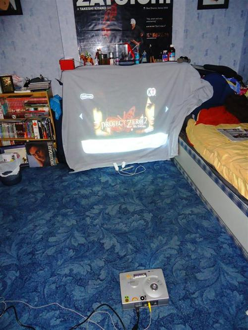 I loved hooking up the projector to my gaming system