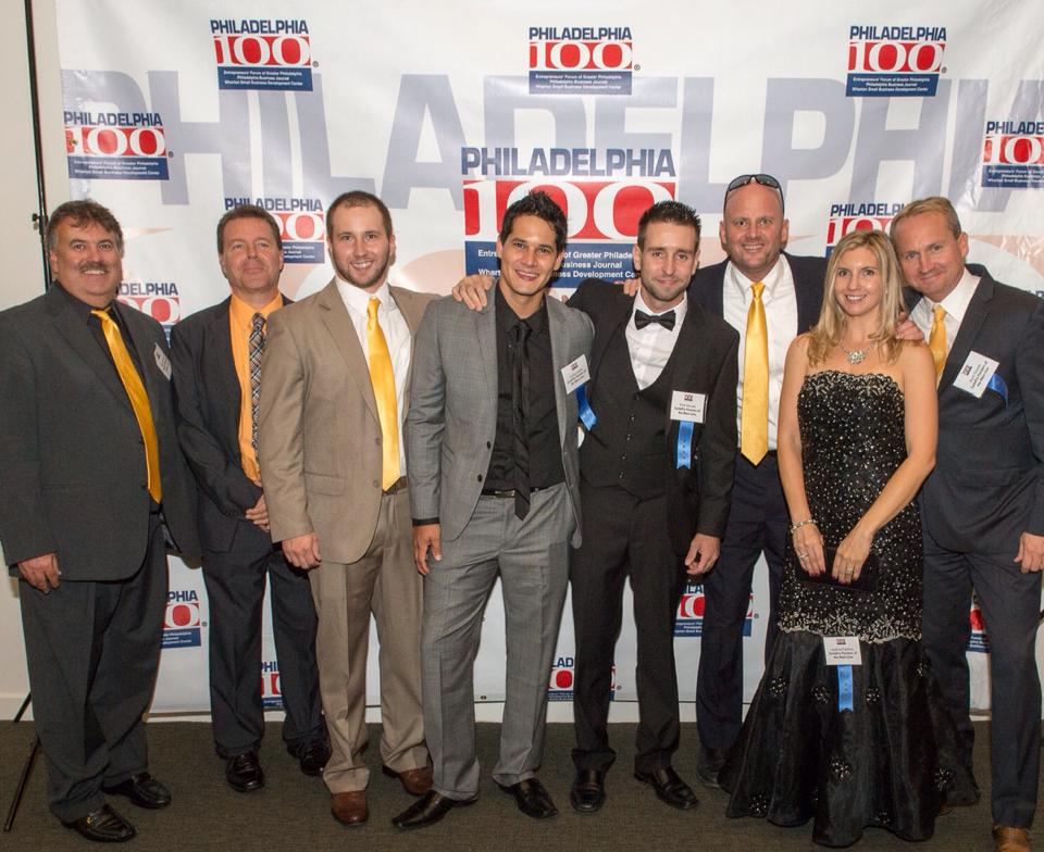 Chris Drucquer (third from the right) at the Philadelphia 100 award ceremony