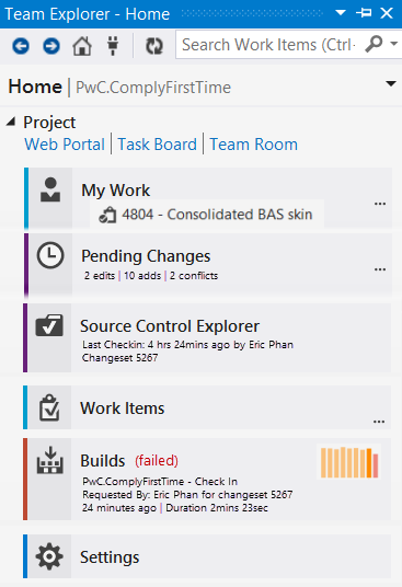 Figure: Good example - The home dashboard provides useful information at a glance without the user needing to click into each hub