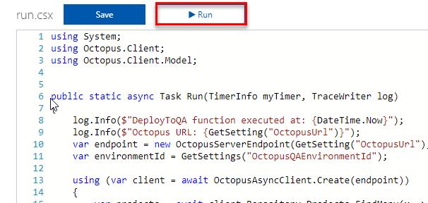 AzureFunctions-Run