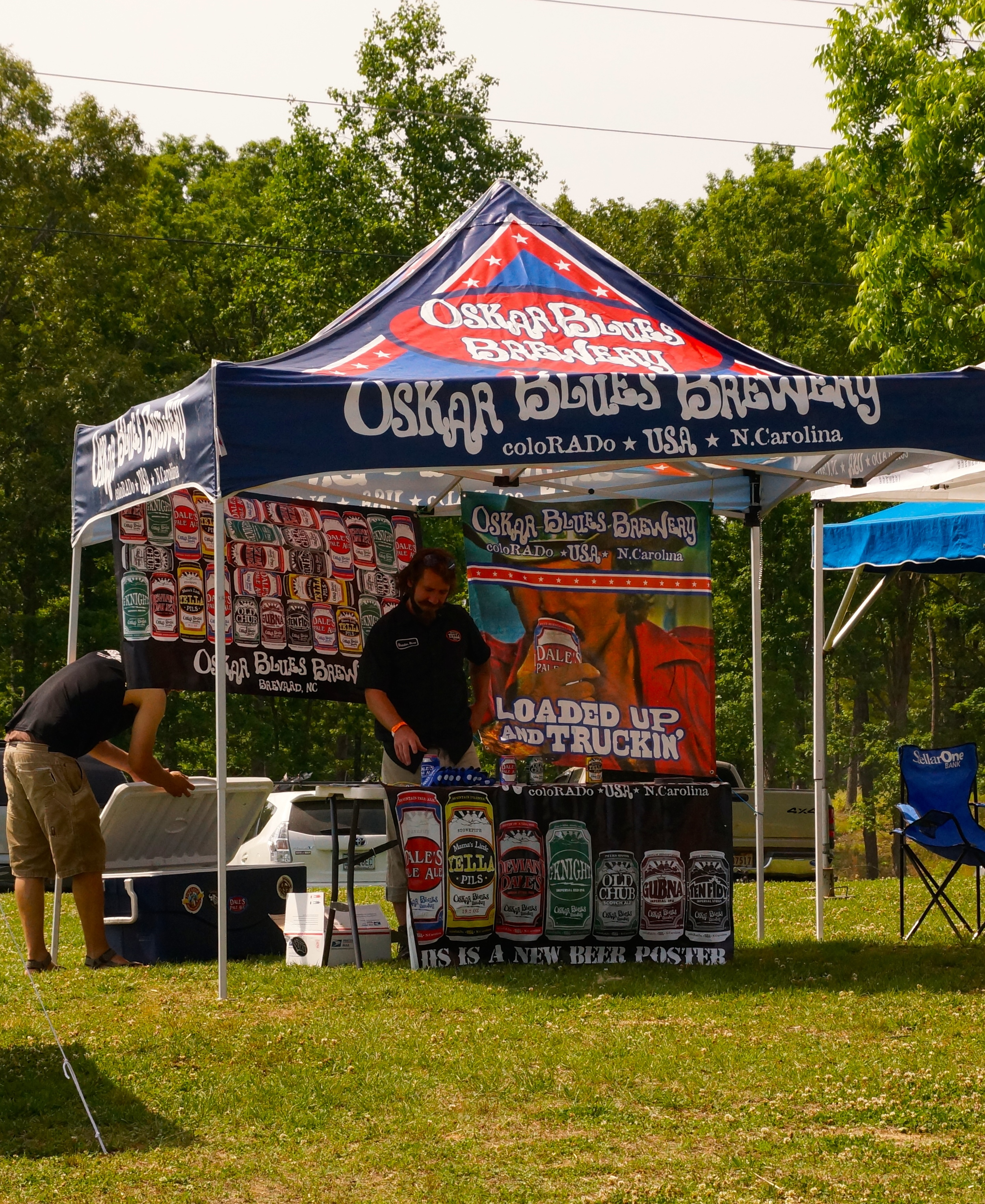 Oskar Blues offered its brew to Rally guests.