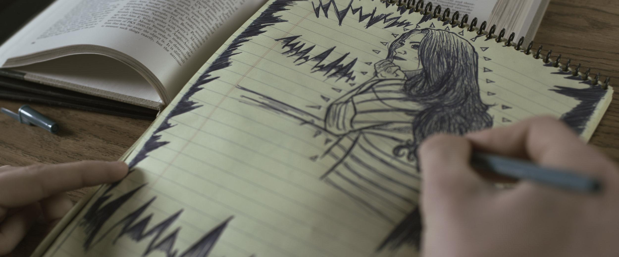 drawings by Ben Deka