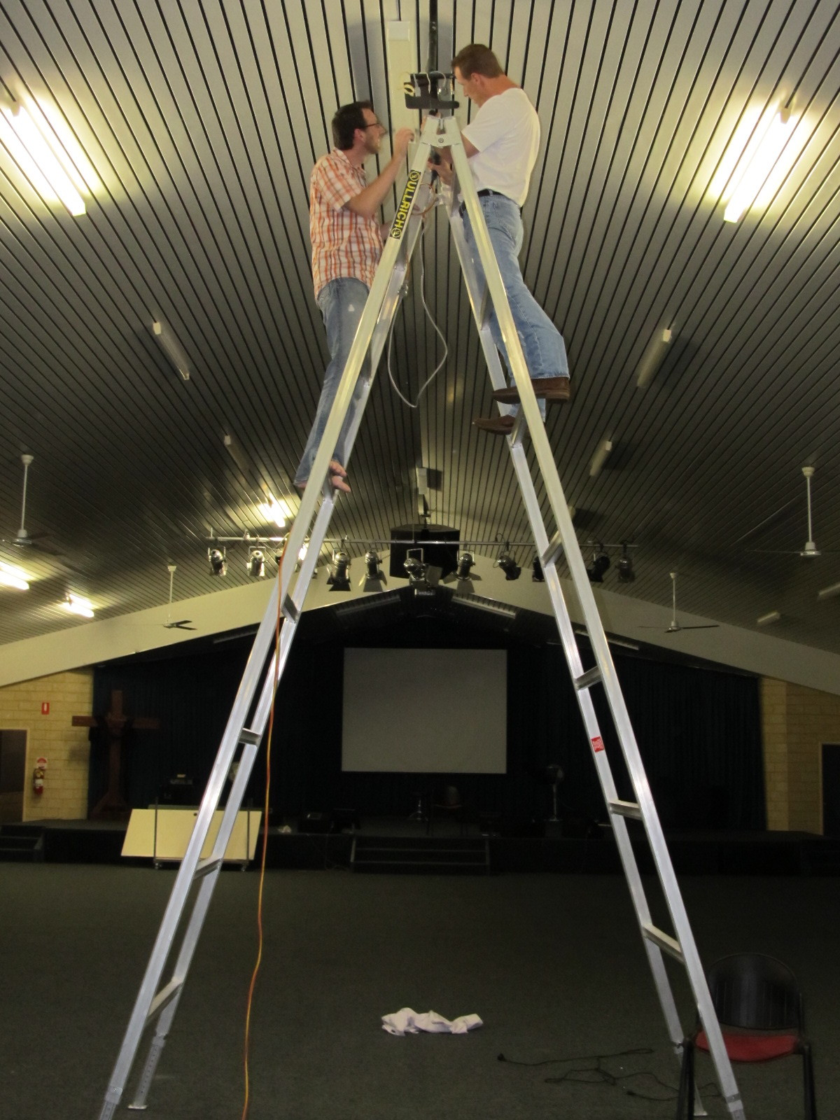 2-25-13 Hanging new projector-2.JPG