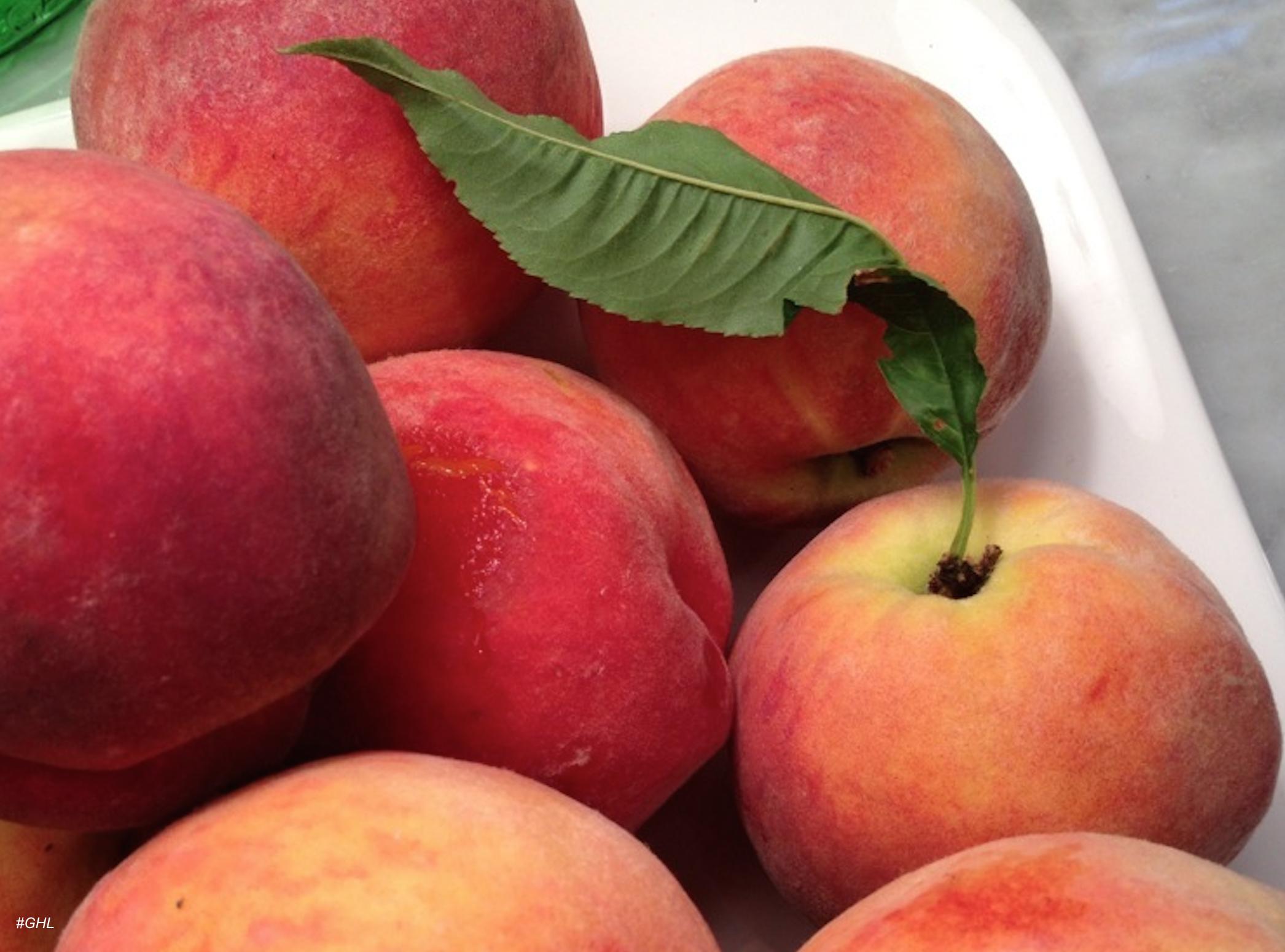 Fresh peaches as seen on George Hirsch Lifestyle