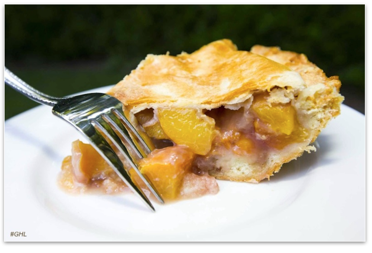 George Hirsch's Rosé Peach Pie