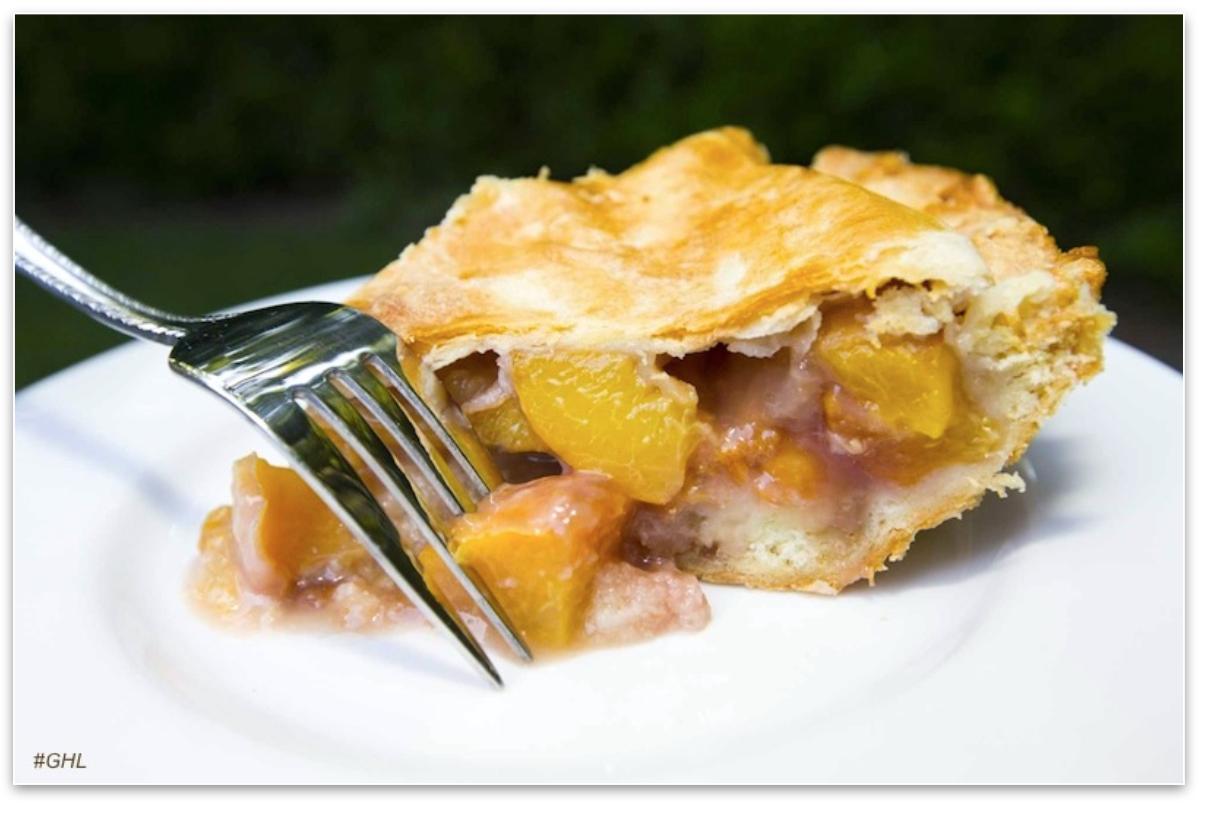 George Hirsch's Rosé Peach Pie