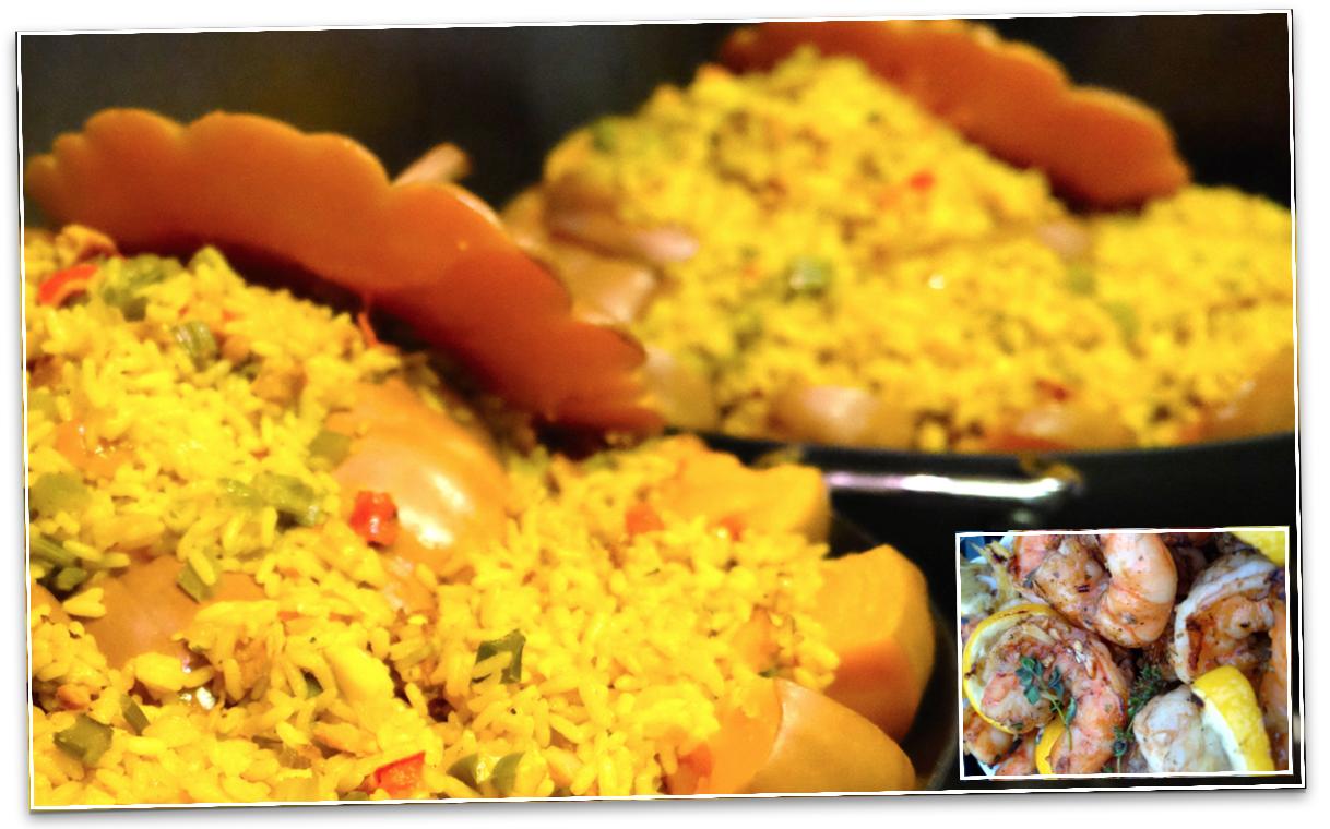 Cheese Pumpkin Stuffed with Jambalaya