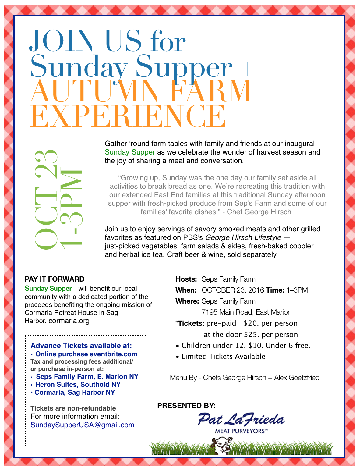 Sunday Supper + Farm Expericnce
