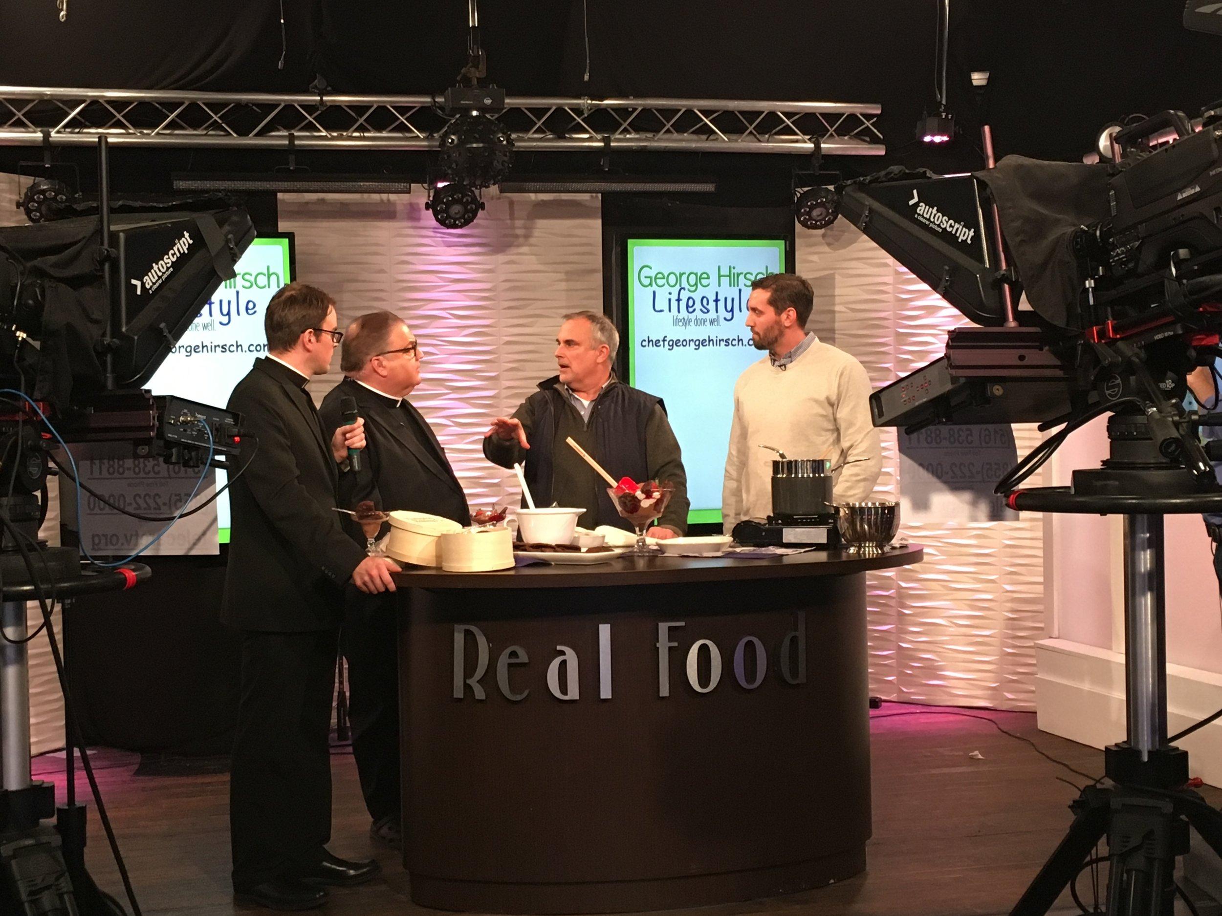 PBS chef George Hirsch & chef Alex Goetzfried Telecare TV for Hampton Baking Co.