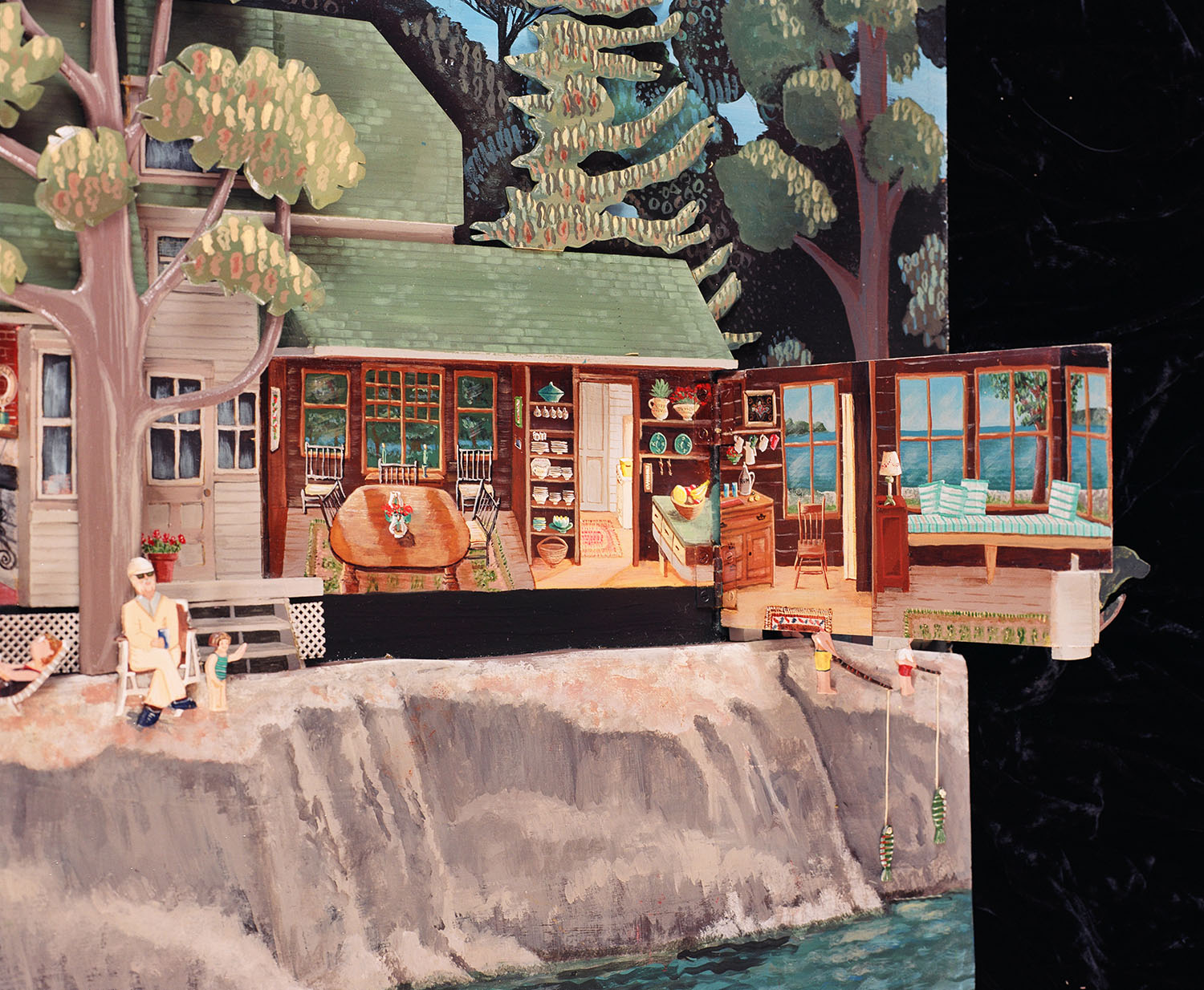 """""""Canadian Cottage""""  Acrylic on Wood Painting by SCdR"""