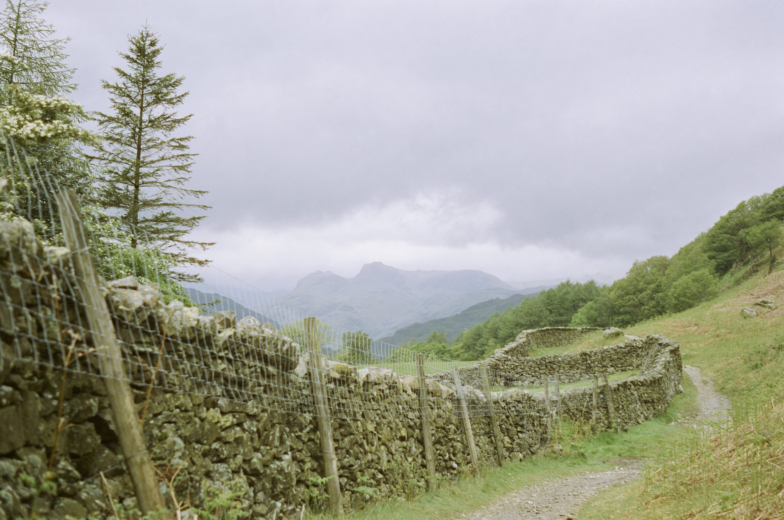 Looking towards the Langdales.