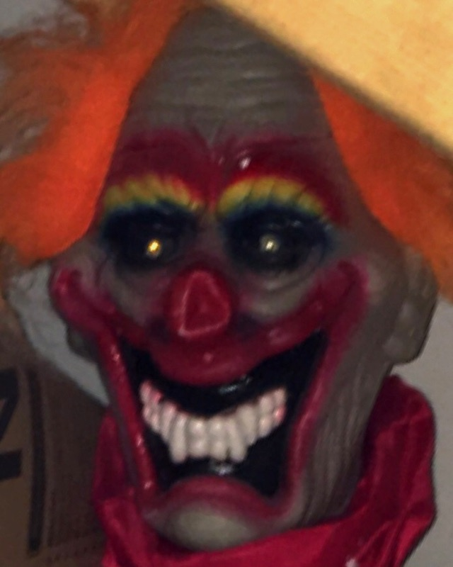 Creepy clown in the basement