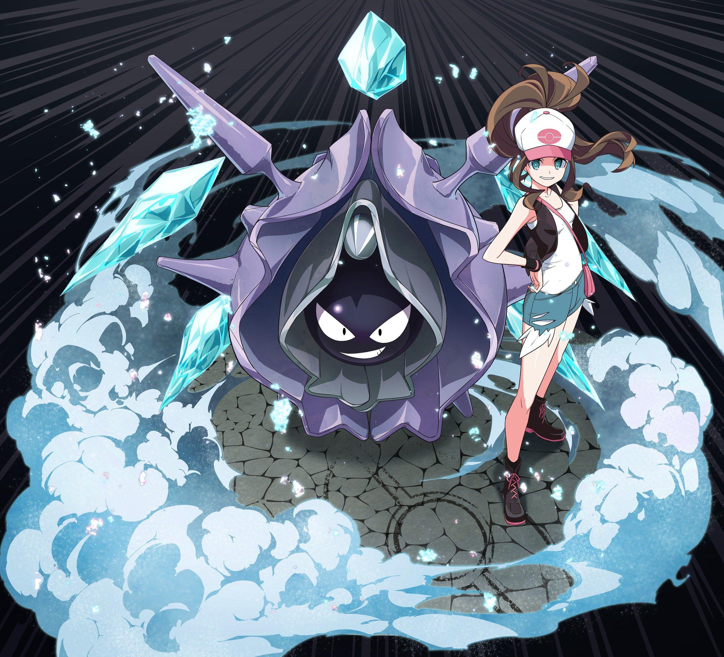 Samegarden, Pokémon Black & White, Pokémon, Cloyster, Touko (Pokémon), Fanart, Twitter