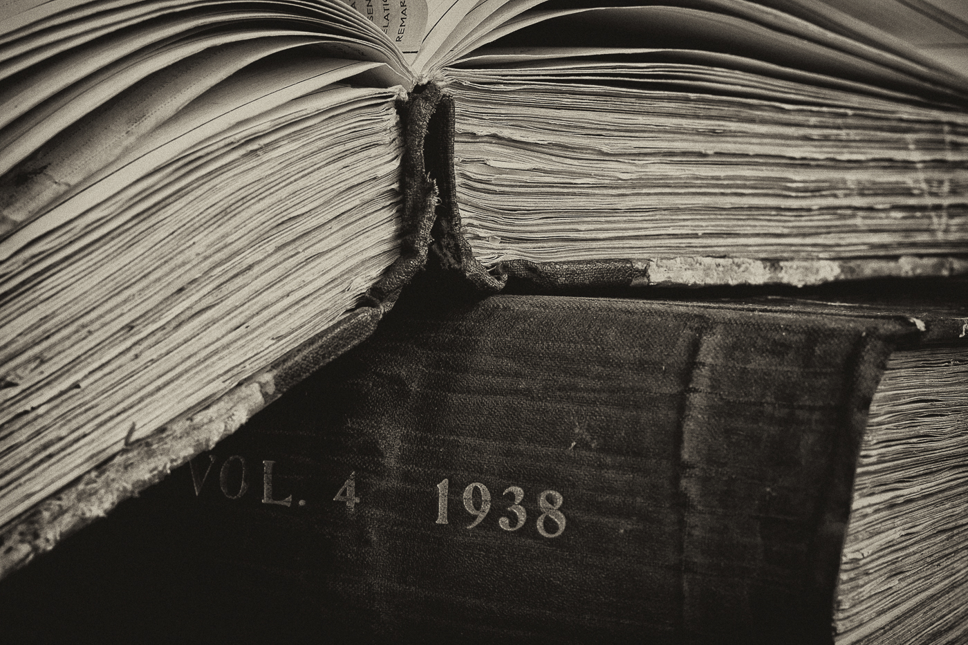 2nd Place -Monochrome Print - Old Medical Records - by Lesley Porter