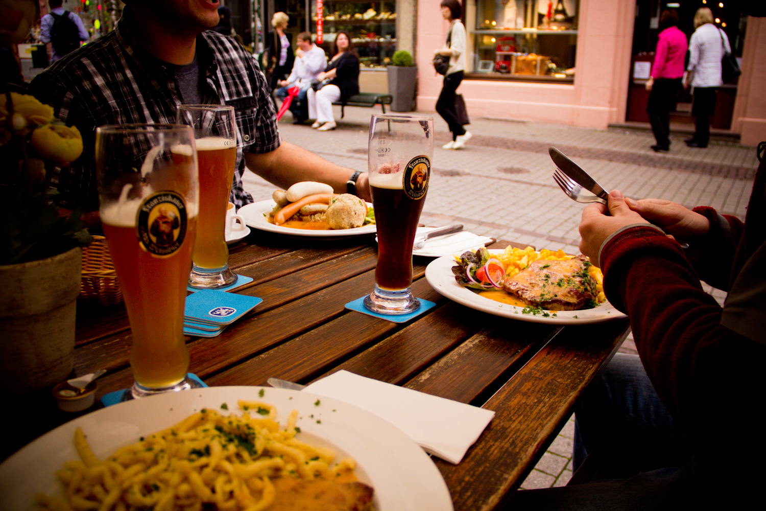 Traditional German Food with Traditional German Beer. Need I say more?