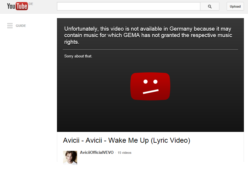 What a nice message to receive nearly every time I want to watch a video.