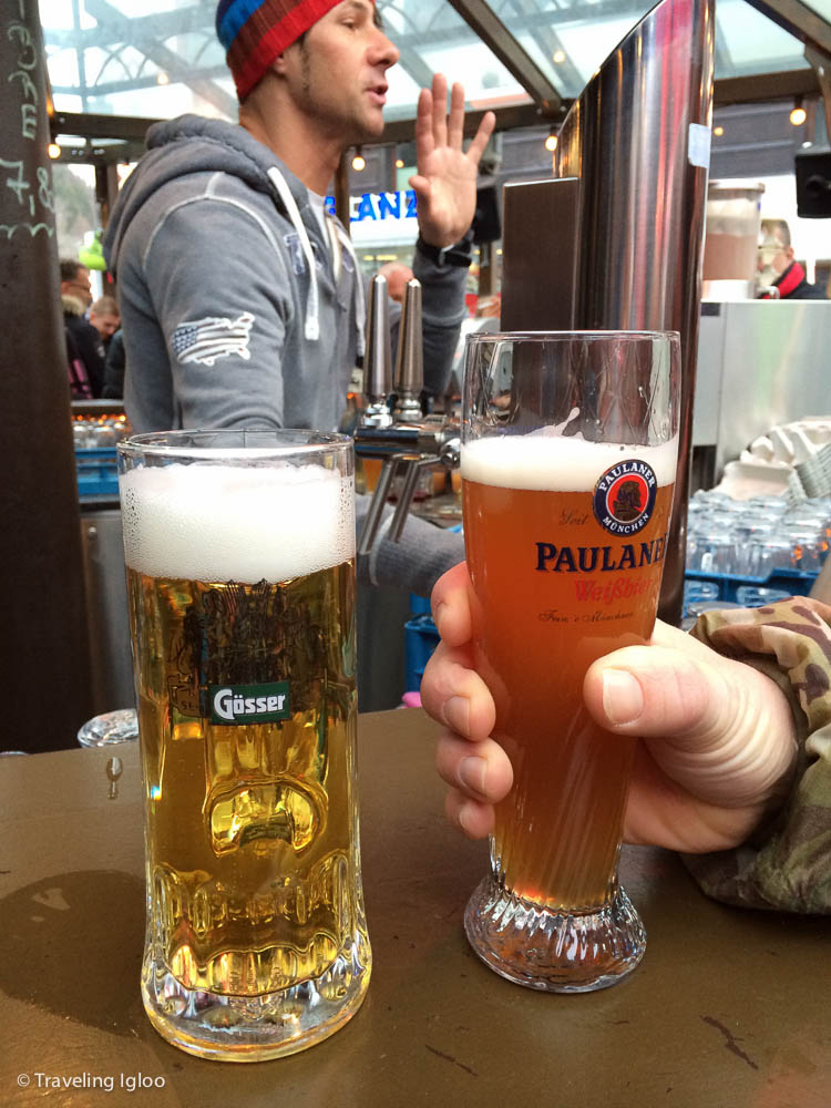 This may not seem like a special photo, but I wanted to point out how small the beers are in Austria (at least compared to Germany). In Germany you get served .5 liters. In Austria it's usually .33.