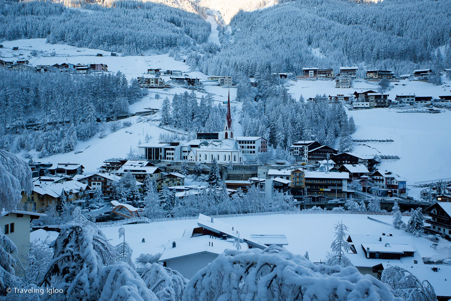 A look at the cute and small downtown Sölden