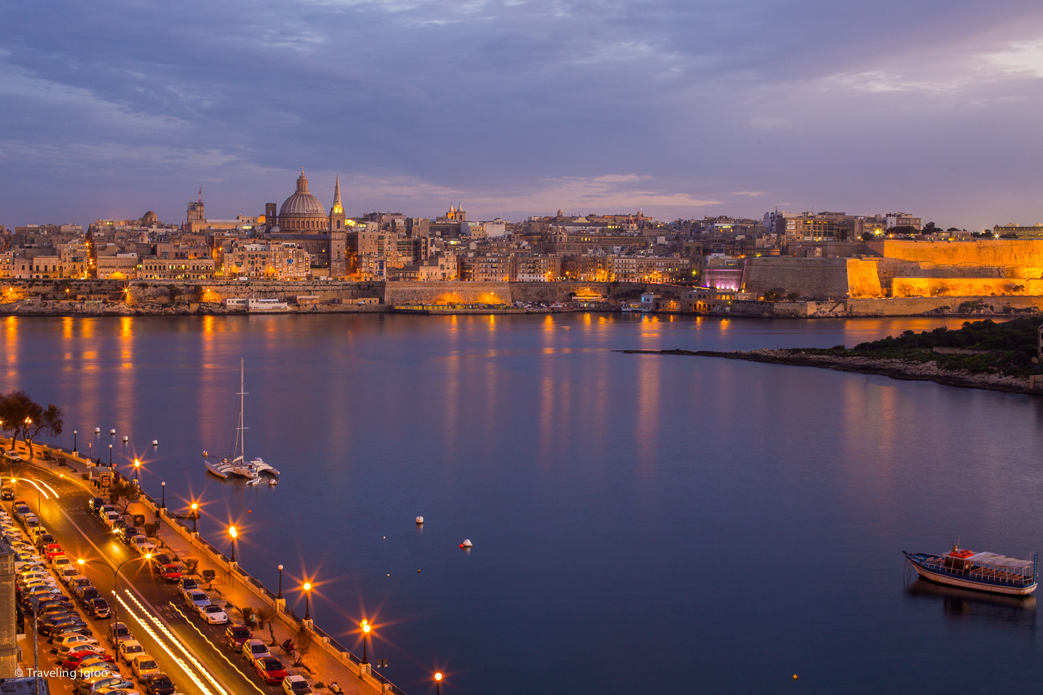 The View of Valletta from the rooftop of our hotel