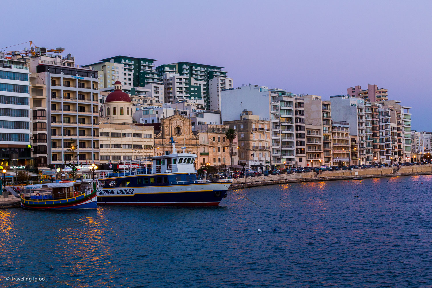 This is the waterfront area of Sliema
