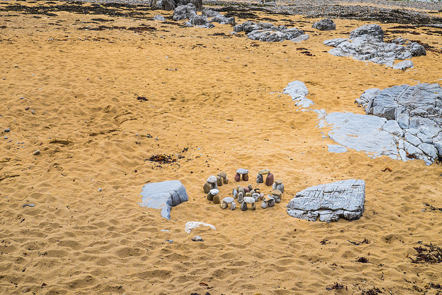 We didn't build this tiny Stonehenge, but we rather wish we had