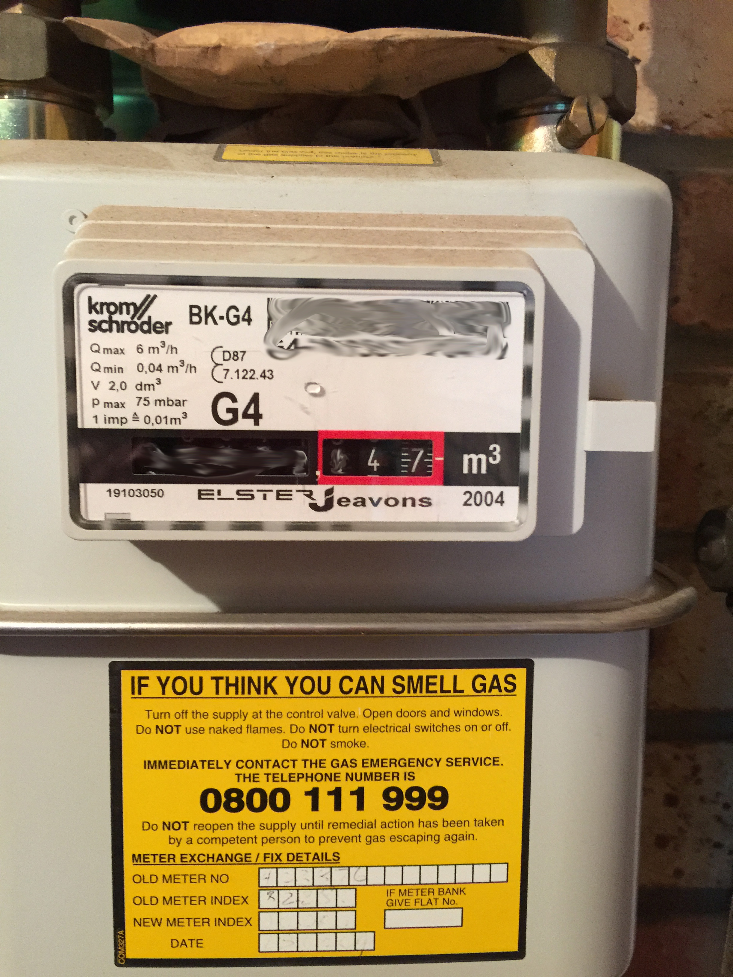 I'm not sure what a naughty hacker could do with my gas meter number, but I'm taking no chances....