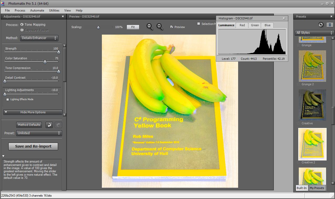 Tone mapping bananas....