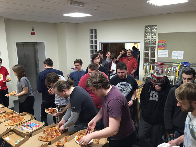 Of course we had pizza - lots of pizza
