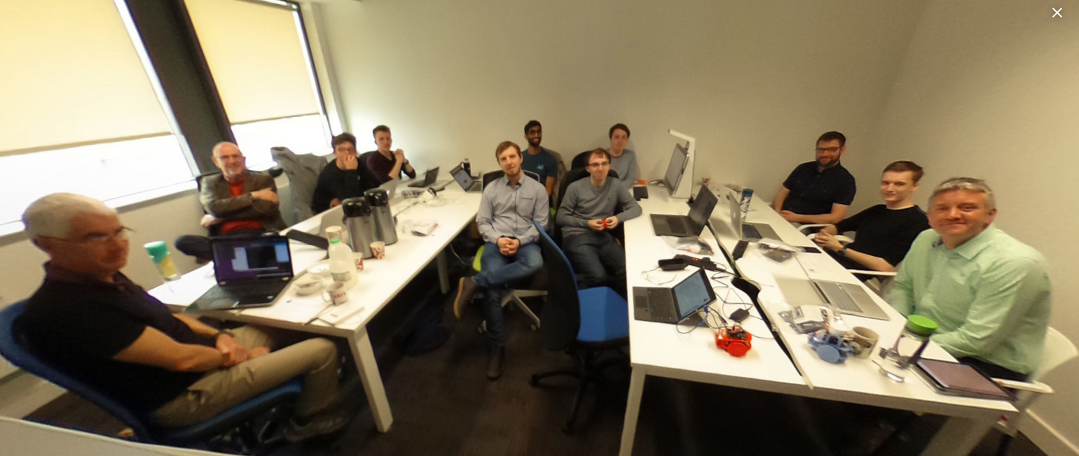 The team at the start of the day. Click through for a 360 degree view