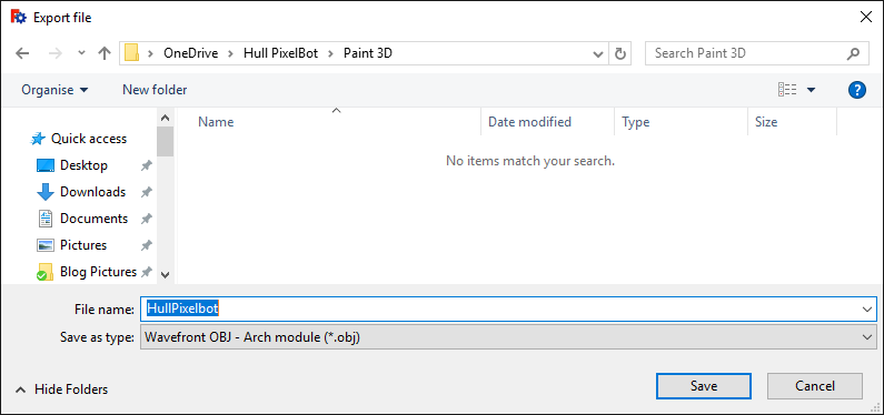 Loading FreeCad designs into Paint 3D — robmiles com