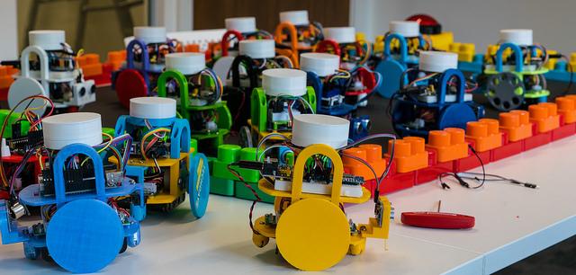 We had some robots on display…