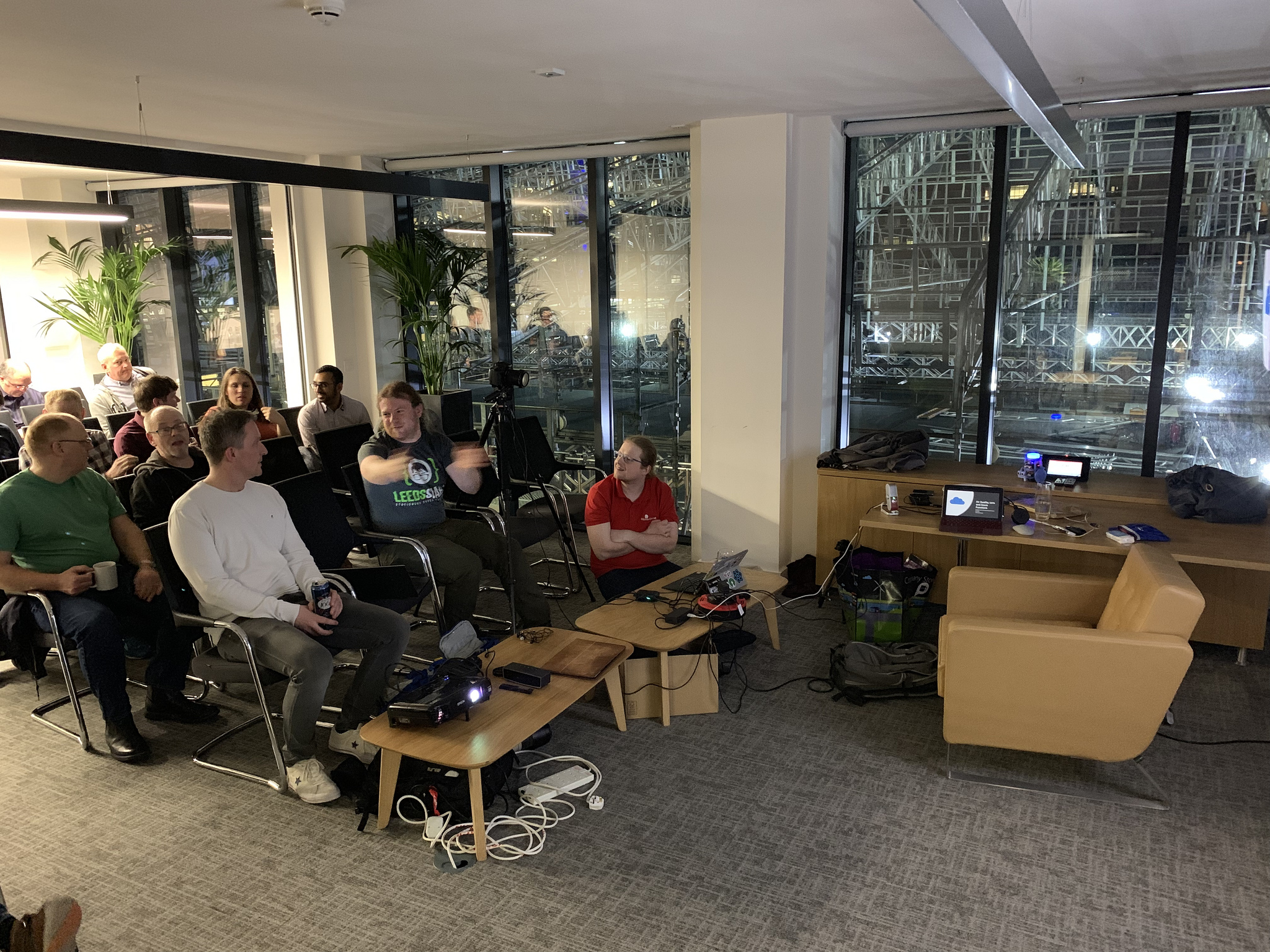 Some of the audience at the start. Note my lovely Surface Go running the whole thing…