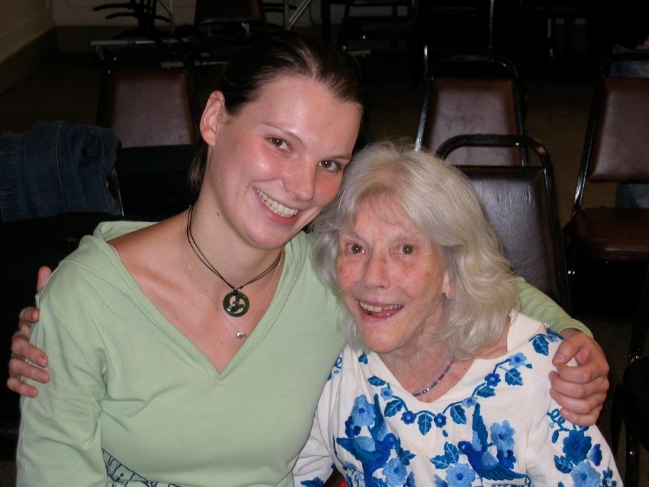 Katrin with Karen Tuttle.