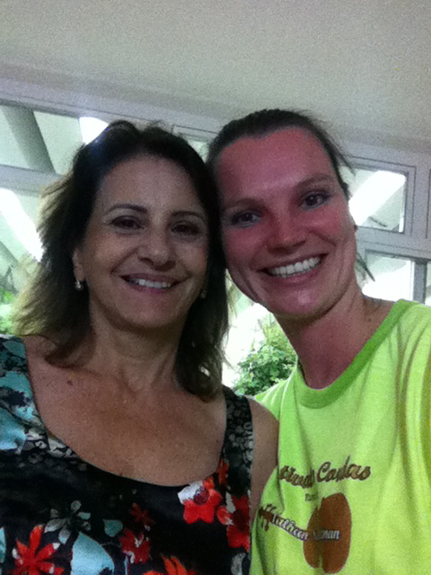 A rare photo of Marcia Caparelli, my Brazilian host mom, and me. Isn't she beautiful? An amazing woman.
