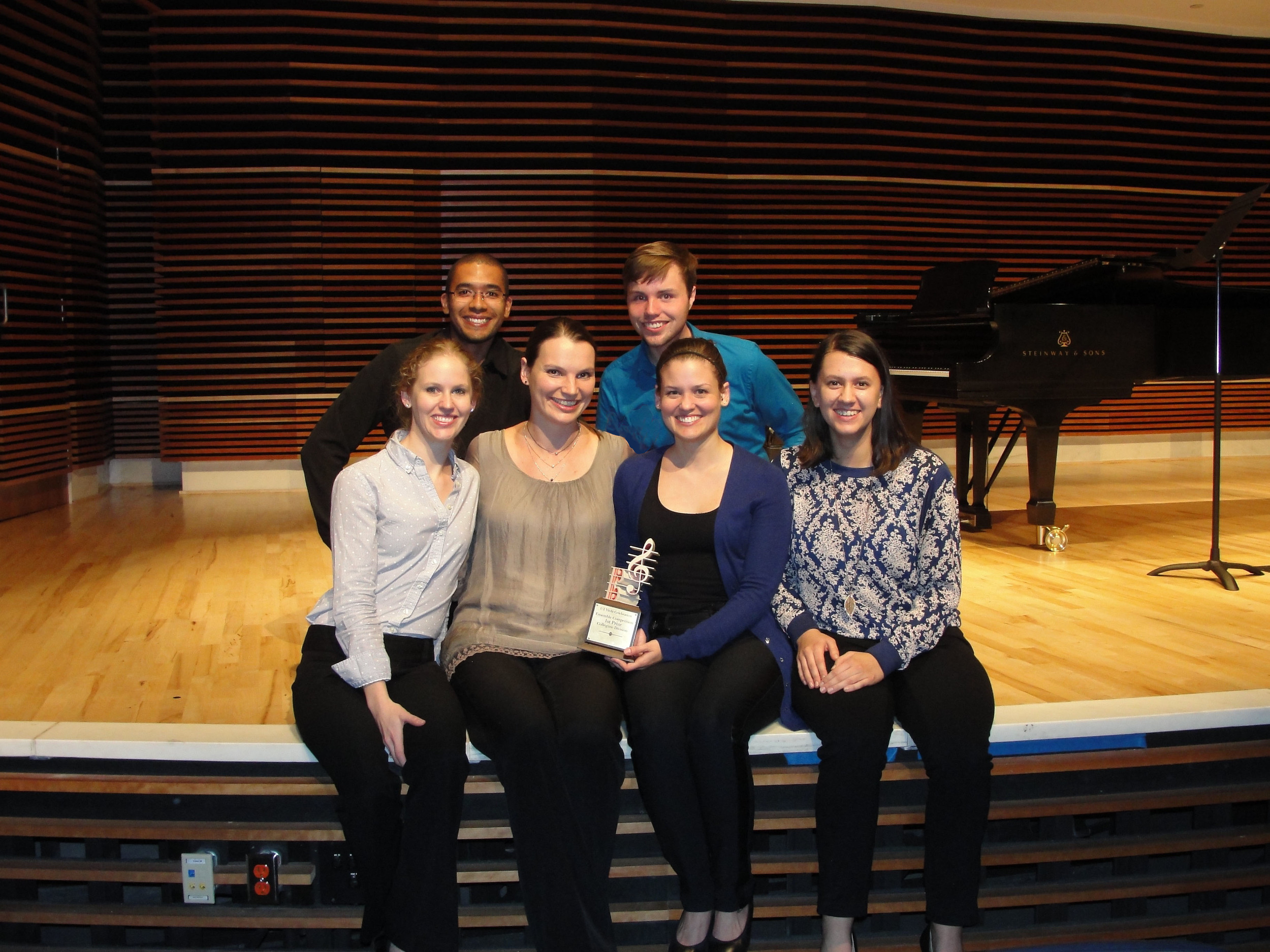 My award winning students! University of Tennessee Viola Celebration 2015: Collegiate Level Ensemble, First Place.