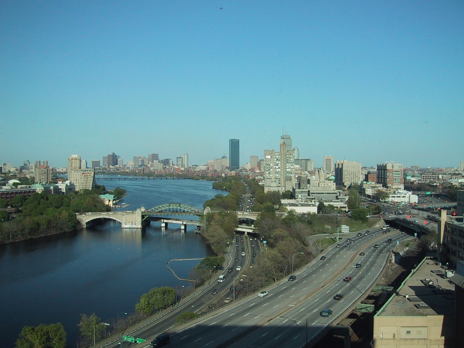 The view from my RA apartment in Boston.
