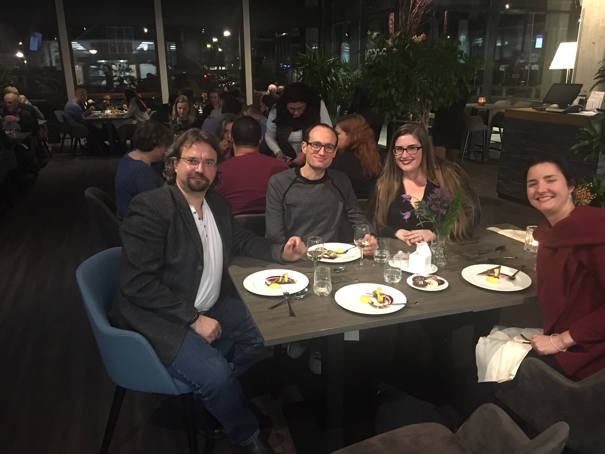 Marcin Murawski, Andy Braddock, Elyse Dalabakis, and Daphne Gerling.