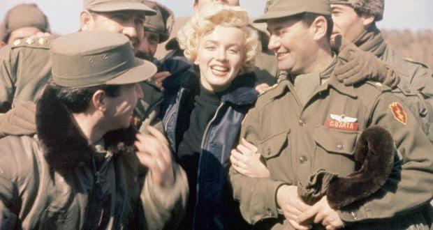 In 1954 Marilyn Monroe visited American troops stationed in Korea.