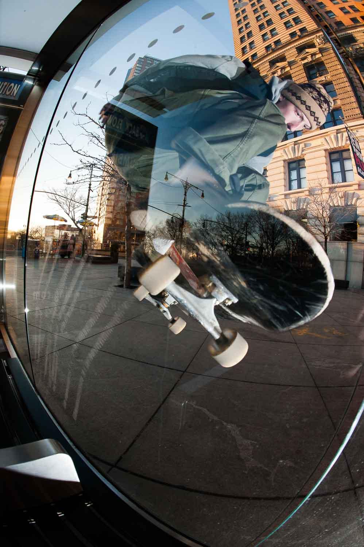 Dylan Drew - Glass Ride Nollie 180 Out - New York -  Transworld Skateboarding