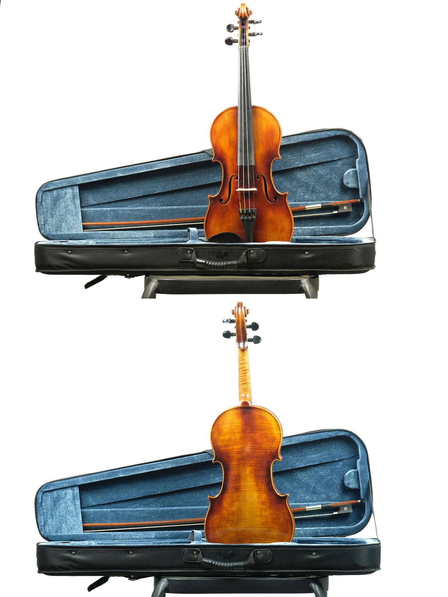 4/4 size German Stradivarius copy.