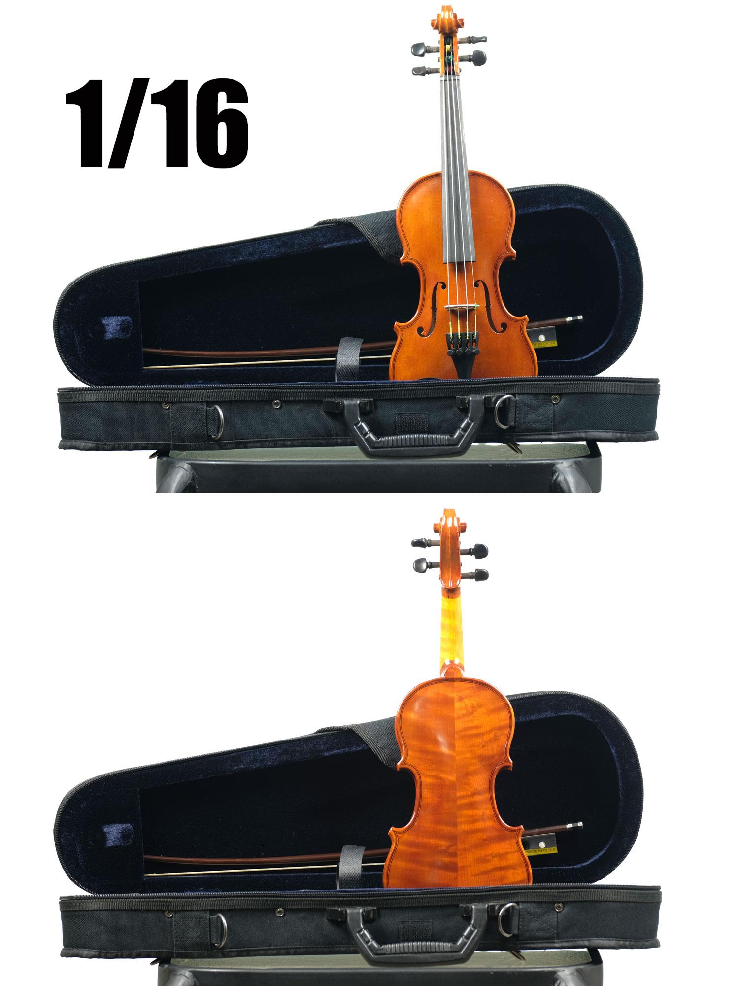 1/16 size violin Amati fine instruments Model Concert