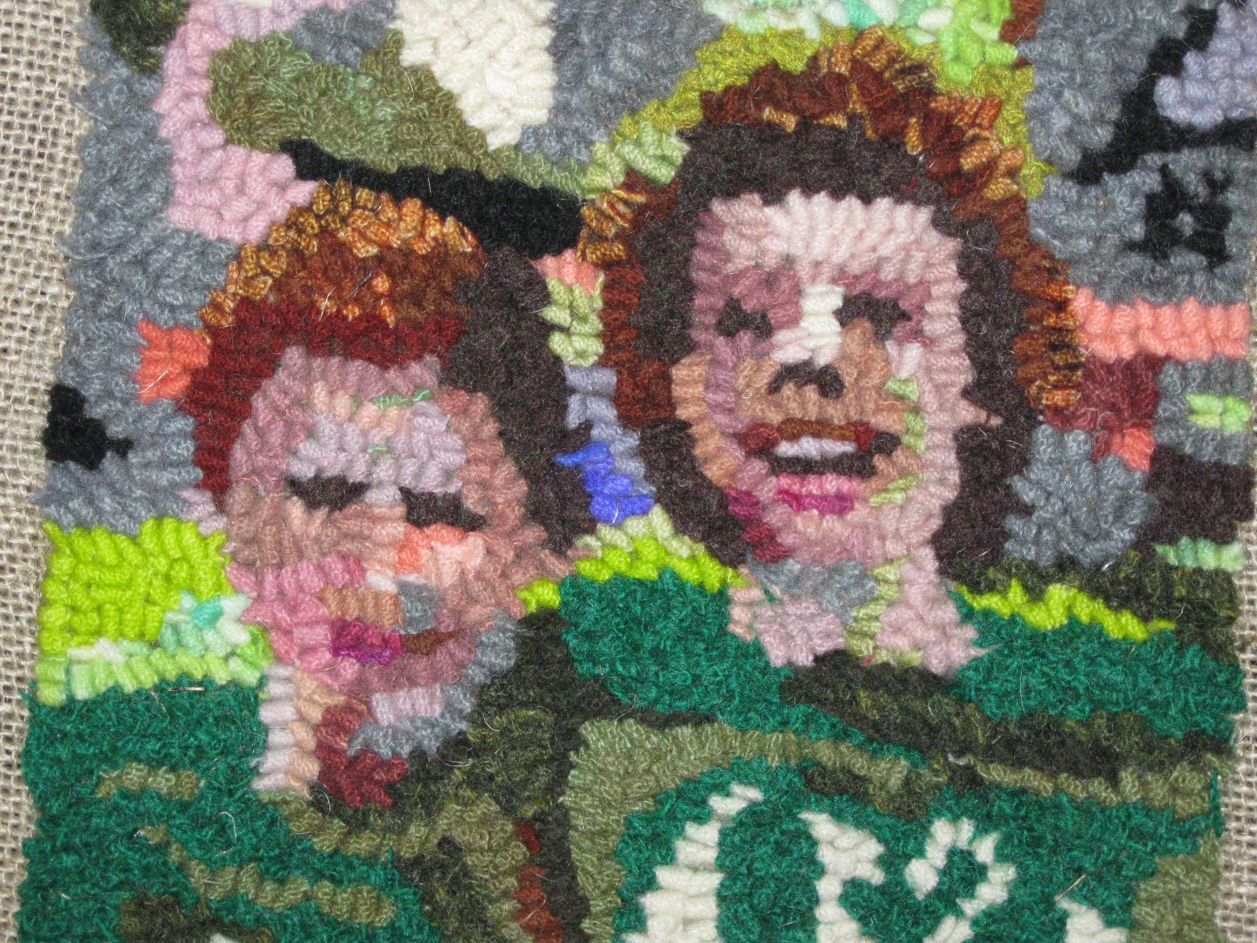 Wool Snapshot hooked by Susan Tirone, 2013.