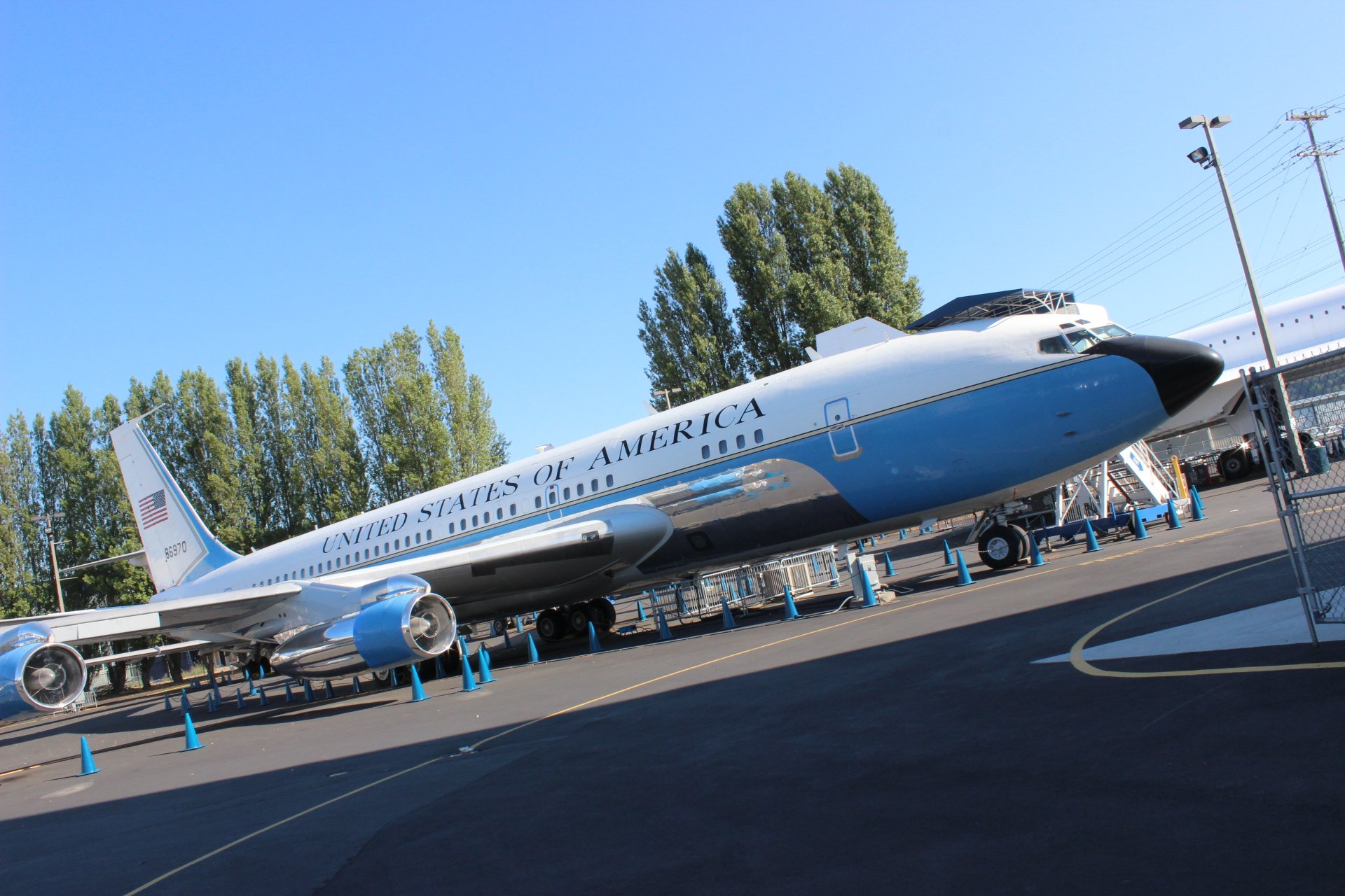 Air Force one: SAM970 Monday morning before we got to work