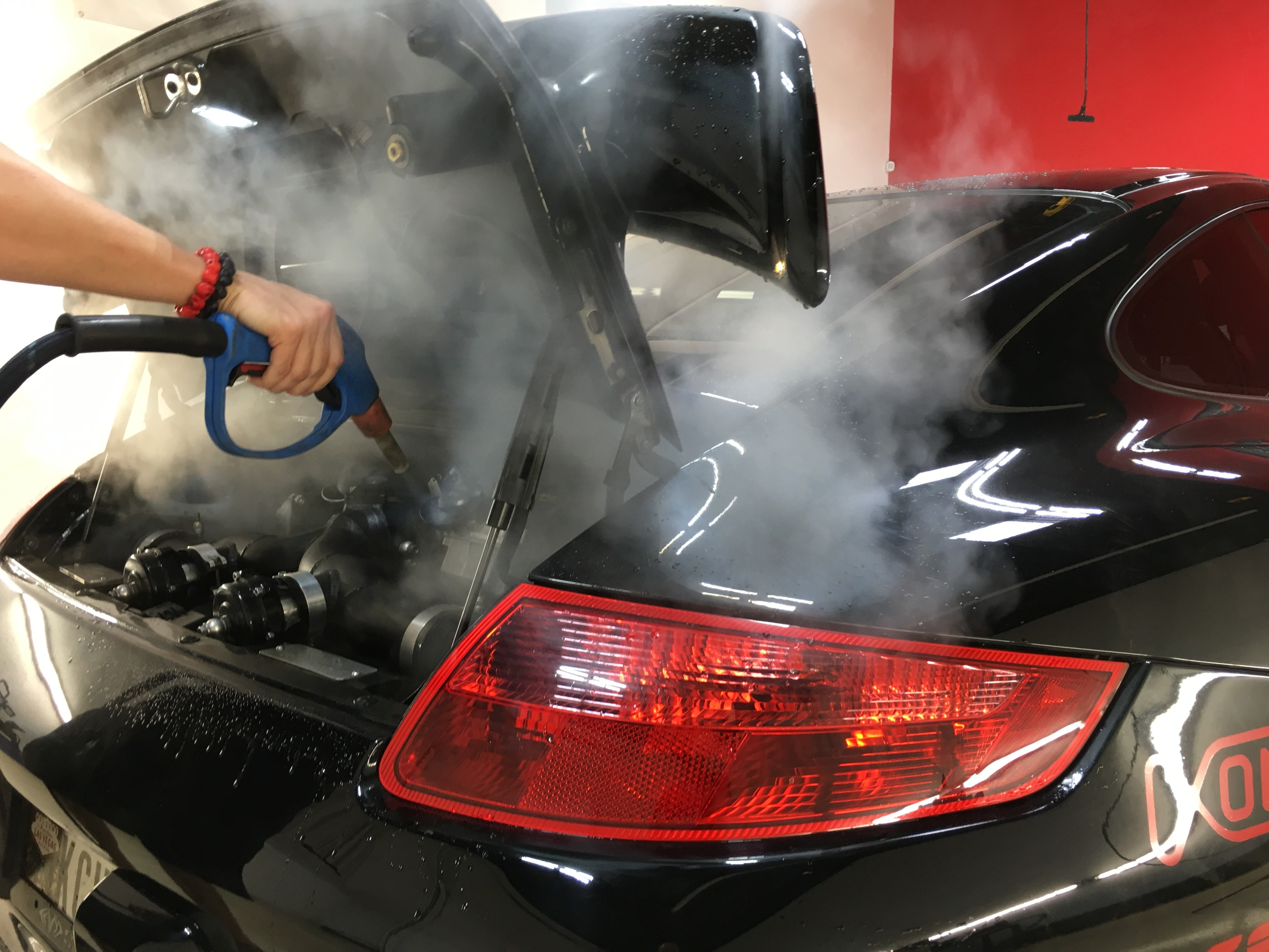 Deep Steam-Cleaning Engine Compartment