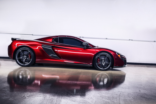 Paint Correction with Ceramic Pro Silver Package: Mclaren 650S in Volcano Red
