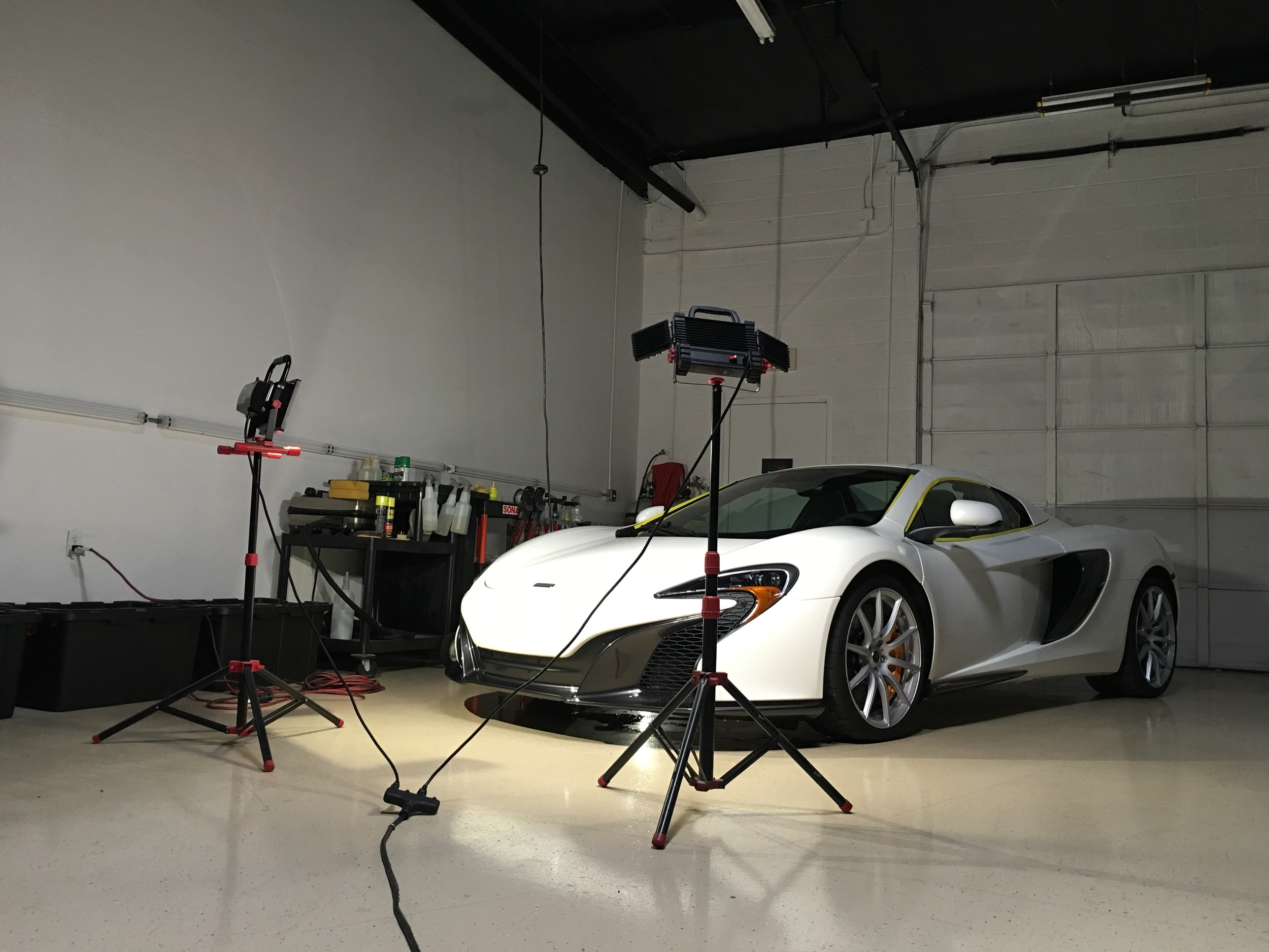 mclaren 650s paint correction