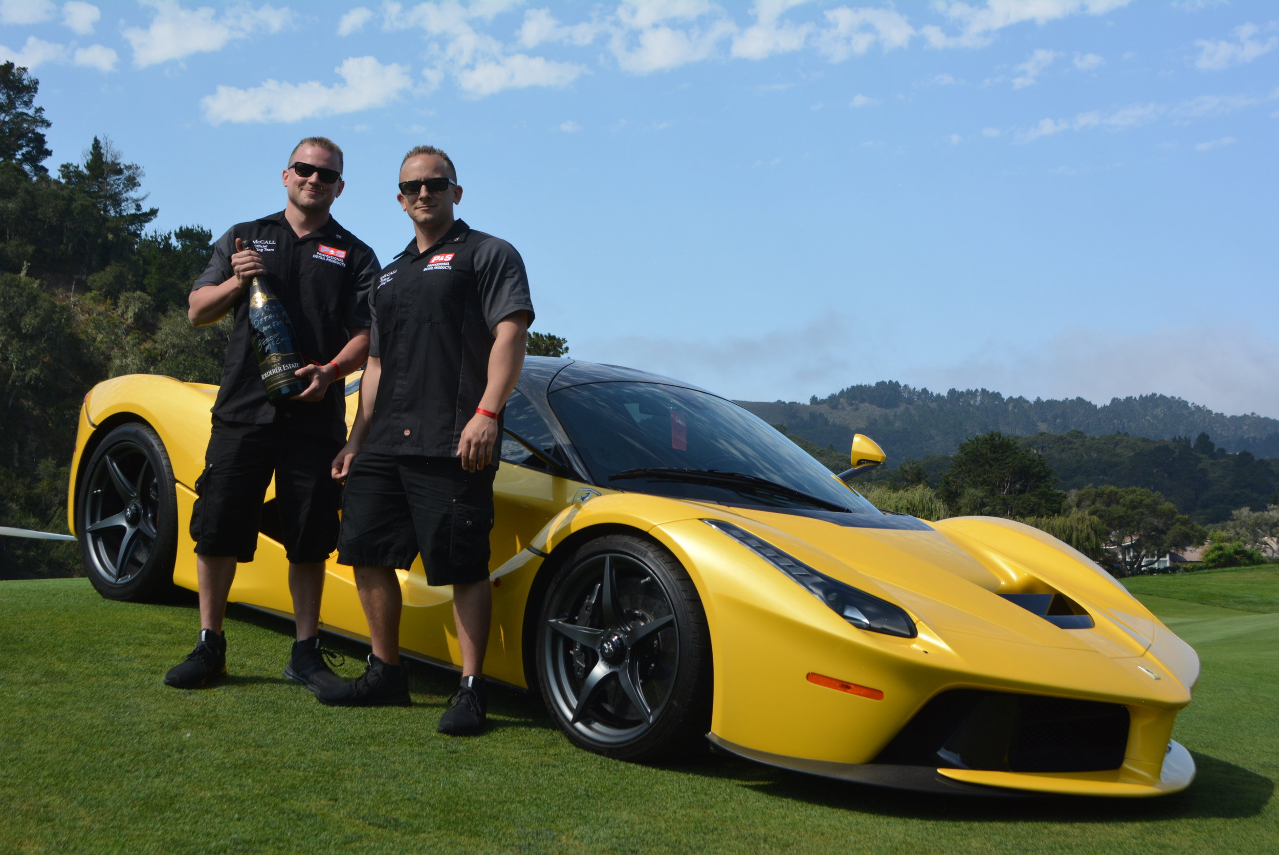 La ferrari detailing professional paint correction scottsdale